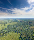 Unlimited forest terrain, top view Royalty Free Stock Image