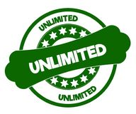 UNLIMITED green stamp. Illustration graphic concept image Royalty Free Stock Images