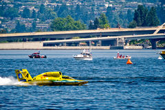 Unlimited Hydro Race Boat. Unlimted Hydro Race boat on Lake Washington Seafair Sunday in Seattle WA Royalty Free Stock Image