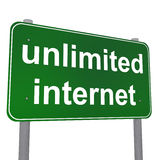 Unlimited Internet Traffic Sign Royalty Free Stock Images