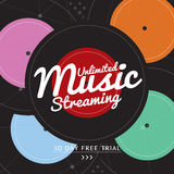 Unlimited Music Streaming. Unlimited Music Streaming Vector Illustration royalty free illustration