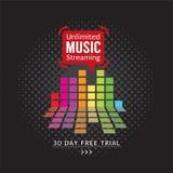 Unlimited Music Streaming. Unlimited Music Streaming Vector Illustration stock illustration