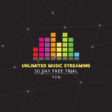 Unlimited Music Streaming. Unlimited Music Streaming Vector Illustration Royalty Free Stock Photos