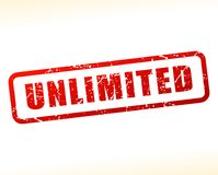 Unlimited text buffered on white background. Illustration of unlimited text buffered on white background Stock Photos