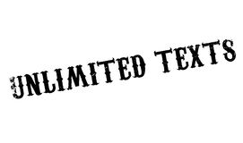 Unlimited Texts rubber stamp. Grunge design with dust scratches. Effects can be easily removed for a clean, crisp look. Color is easily changed Royalty Free Stock Photography
