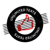 Unlimited Texts rubber stamp. Grunge design with dust scratches. Effects can be easily removed for a clean, crisp look. Color is easily changed Stock Photography