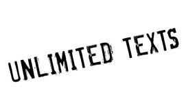 Unlimited Texts rubber stamp. Grunge design with dust scratches. Effects can be easily removed for a clean, crisp look. Color is easily changed Royalty Free Stock Images