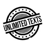 Unlimited Texts rubber stamp. Grunge design with dust scratches. Effects can be easily removed for a clean, crisp look. Color is easily changed Royalty Free Stock Photo
