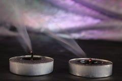 2 unlit свечи Стоковое Фото