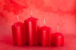 4 unlit свечи Стоковая Фотография