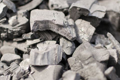 Unlit Charcoal blocks for BBQ Royalty Free Stock Image