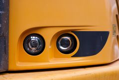 Two headlights of a vehicle royalty free stock photos