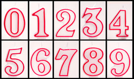 Unlit Numeric Birthday Candles. Numeric Birthday candles not yet lit. Ready for copying and pasting Royalty Free Stock Photo