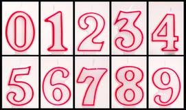 Unlit numeriska födelsedagstearinljus Royaltyfri Foto