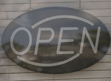 Unlit Open Sign Stock Photos
