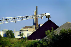 Unload Coal Electric Plant Royalty Free Stock Images