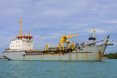 Unloaded Freight Ship Royalty Free Stock Photography