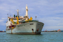 Unloaded Freight Ship Stock Photography