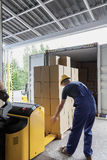 Unloading of articles Stock Image