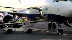 Unloading of Baggage stock footage