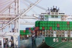 Unloading Cargo Ship Stock Photos