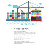 Unloading Containers from a Cargo Ship Royalty Free Stock Photography
