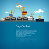 Unloading Oil from the Tanker and Text Royalty Free Stock Images