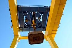Unloading platform electromagnet. In logistics station Royalty Free Stock Image