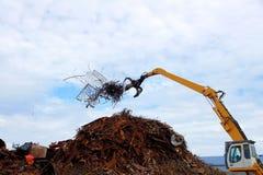 Unloading of scrap metal Stock Image