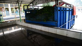 Unloading truck full of green tea. From plantation stock footage