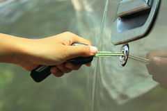 Unlock car door Royalty Free Stock Image