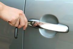 Unlock the door car Stock Image