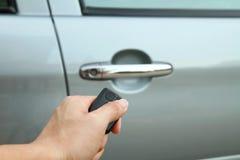 Unlock the door car Stock Images
