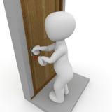 Unlock door Stock Photography