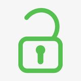 Unlock icon  Royalty Free Stock Photography