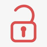 Unlock icon  Stock Photo