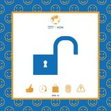 Unlock icon symbol. Unlock icon . Signs and symbols - graphic elements for your design Royalty Free Stock Photo