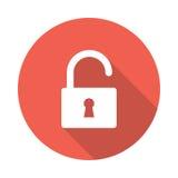 Unlock icon. Unlock vector Glyphs Shadow Icon Royalty Free Stock Image