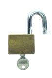 Unlock key isolated on white background Stock Image
