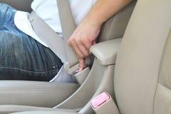 Unlock seat belt Stock Photos