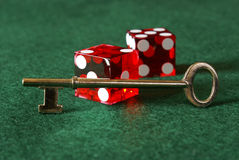Unlock Success. Unlocking success in the gambling sector is one of chance, skill, and luck stock photography