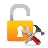 Unlock tools concept Stock Photos