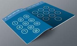 UnLock UI Design app Magazine Royalty Free Stock Photos