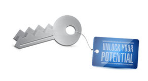 Unlock you your potential illustration. Design graphic Stock Photography