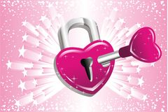 Unlock your heart Royalty Free Stock Image