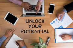 UNLOCK YOUR POTENTIAL Stock Images