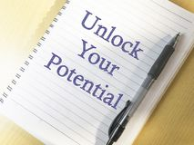 Unlock Your Potential, Motivational Inspirational Quotes royalty free stock photos