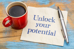 Unlock your potential reminder note Royalty Free Stock Photos