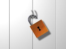 Unlocked door Royalty Free Stock Image