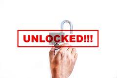 Unlocked royalty free stock photo